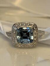 Rare Tiffany & Co Legacy Aquamarine and diamond ring