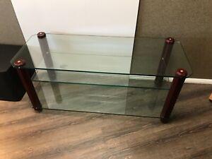 Stands Unique AV10 (Chunky) AV Rack - Mahogany