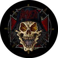 SLAYER unholy skull - 2007 - CIRCULAR BACK PATCH - 28 cms - diameter OFFICIAL