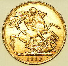 More details for scarce 1918 i sovereign, bombay mint, british gold coin from george v gef