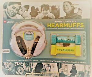 Lucid Audio HearMuffs Bonus Pack Headphones~Grow Bands~Batteries Infant-Toddler