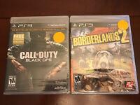 Call Of Duty Black Ops & Borderlands 2 (Sony PlayStation 3) STILL SEALED!