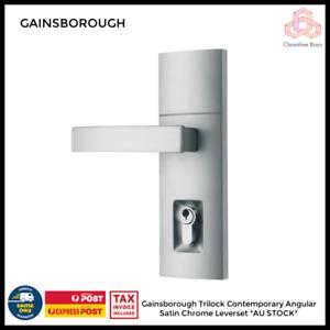 Gainsborough Trilock Contemporary Angular Satin Chrome Leverset *AU STOCK*
