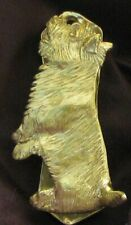 Cairn Terrier Solo Door Knocker in Bronze