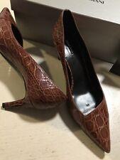 NIB $2995 Giorgio Armani Women Caiman Leather Shoes Burgundy 9 US ( 39 Eu )