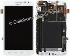 AT&T Galaxy Note 1 Samsung I717 LCD Display Touch Screen Digitizer Frame White