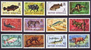 British Honduras 1968 SC 214-225 MNH Set Fish Animal