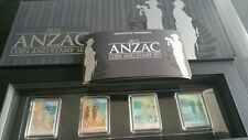 2015 ANZAC Joint issue stamp coin 2 x 1/2 oz silver proof coin