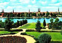 Lübeck , Blick über die Wakenitz auf die Stadt , Ansichtskarte