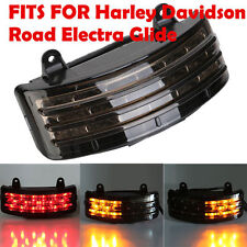 Smoke Tri-Bar Fender LED Tail Brake Signal Light Fit Harley Touring Street Glide