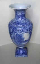 Chinesische Porzellanvase, blau bemalt, antik