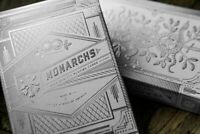SILVER Monarchs Playing Cards -  SUPER RARE - BRAND NEW - Theory11