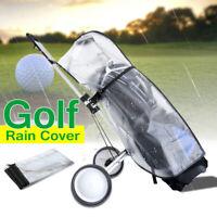 Golf Cart Trolley Bag Rain Cover Waterproof Universal PVC Cape Zip Dust Cover