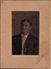 """Handsome Young Man, Cabinet Photo, 1900's 4""""x5.5"""" inches."""