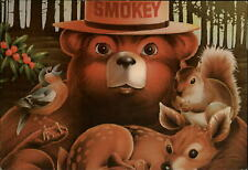 Smokey the Bear Squirrels Forests Full of Friends ~ Advertising postcard  sku325