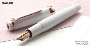 [Medium Fine nib] Sailor PROFESSIONAL GEAR Pink Gold Fountain Pen White 21K Gold