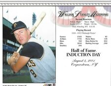 "Bill Mazeroski - Pittsburgh Pirates Hall of Fame 8"" x 10"" Supercard"