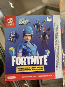 Nintendo Switch Fortnight Wildcat Bundle Plus 2000 V Bucks Limited Edition CODE