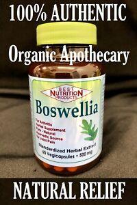 100%NATURAL BOSWELLIA Joint/Knee Pain Relief Vegan Halal Potent Veggie Capsules
