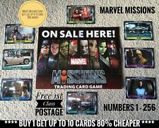 Topps Marvel Missions Cards - No.1-272, Buy 1 Get Up To 10 Cards 80% Cheaper