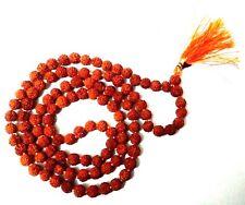 6mm Knotted Rudraksha Hindu 108+1 Bead Seed Mala Necklace Bracelet Rosary Prayer