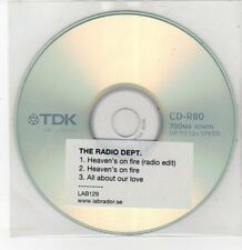 (DQ558) The Radio Department, Heaven's On Fire - DJ CD