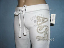NEW Aeropostale Junior Girls White Lounge Bermuda Sweat Shorts XS X-Small