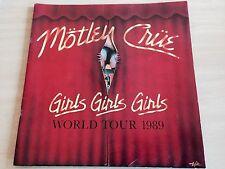 Motley Crue - Girls Girls Girls 89 Tour Programme