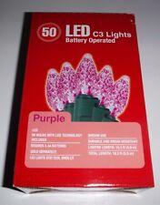 50 Led Battery Operated Purple C3 Lights Light Set Christmas Wedding