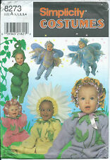 S 8273 Halloween COSTUME sewing PATTERN sew FAIRY PEAS DAISY FLOWERS ~ ½,1,2,3,4