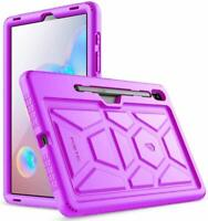 Samsung Galaxy Tab S6 Tablet Case Poetic Soft Silicone Protective Cover Purple