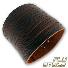 Men's Bracelet Leather Surfer Wave Brown Punk Rock Boho Goa Gothic Wgt V8