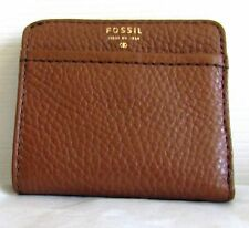 Fossil Tessa Bifold Medium Brown Card Purse Wallet Cowhide Leather Slim