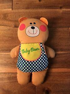 Vintage 1974 Playskool Milton Bradley Baby Bear Plush Soft Story Book Stuffed