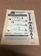 McCulloch Eager Beaver Trimmers & Brush Cutters User Manual