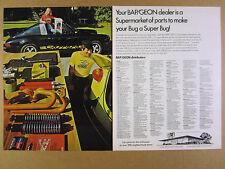 1974 porsche 911 carrera & vw beetle photo BAP/GEON Parts vintage print Ad