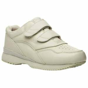 Propet Tour Walker Strap Womens Walking Sneakers Shoes Casual   - White