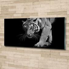 Glas-Bild Wandbilder Druck auf Glas 125x50 Deko Tiere Tiger