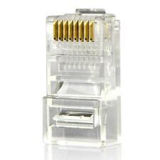 10PCS 8 Pins Network Cable Modular Plug Head RJ45 8P8C CAT5e Adapter Connector