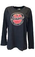 Houston Texans NFL Team Apparel Navy Blue Long Sleeve Women's Shirt, Plus Size