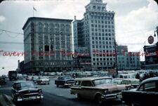 Cool 1957 VANCOUVER Canada Vancouver Block Street Scene 35mm Slide c946