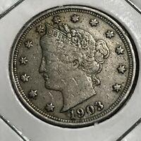 1903 LIBERTY NICKEL BETTER GRADE COIN