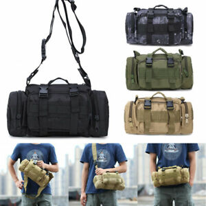 10L Tactical Shoulder Waist Pack Military Molle Camping Hiking Outdoor Pouch Bag