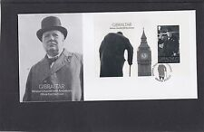 Gibraltar 2015 Winston Churchill MS also Big Ben First Day Cover FDC