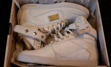Firetrap Ladies Bliss Lace Up / Hi Tops White Gold RRP£100!/LAST PAIR!BNIB