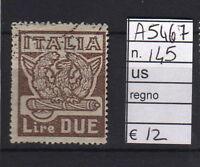 FRANCOBOLLI ITALIA REGNO USATI N°145 (A5467)