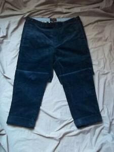 Pantalon homme Beams + Bleu royal velours taille L cropped