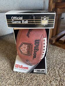 Wilson NFL Pro-Line Super Bowl 25 KRAFT Game Ball  In  Box