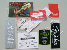 MIKE DIRNT FENDER PBass Case Candy - With  UNFILLED  HANG TAG & REG DOC - PBASS