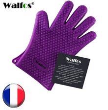 Gant de cuisson 100% silicone manique isolant non toxique  - Violet ou noir